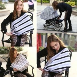 Baby-Car-Seat-Cover-Canopy-Nursing-Cover-Multi-Use-Stretchy-Infinity-Scarf-Breastfeeding-Shopping-Cart-Cover-High-Chair-Cover-Black