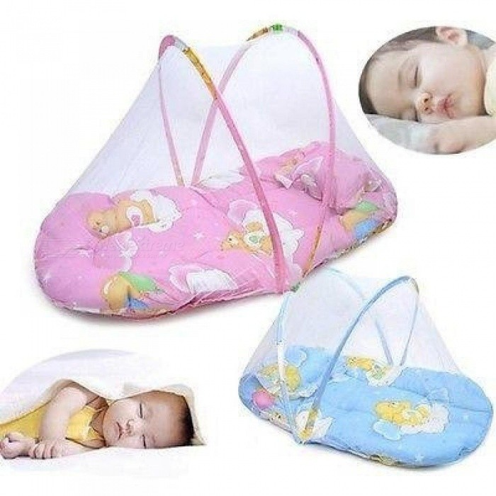 Baby-Infant-Portable-Folding-Travel-Bed-Crib-Canopy-Mosquito-Net-Baby-Bed-Tents-Size-For-54cm-x-44cm-Pink