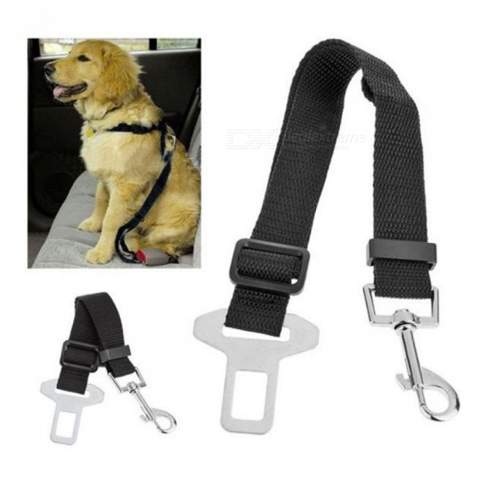 Adjustable Dog Car Safety Seat Belt Pets Dogs Seatbelt Cat Carriers Leads Belts Pet Accessories 1 PCS