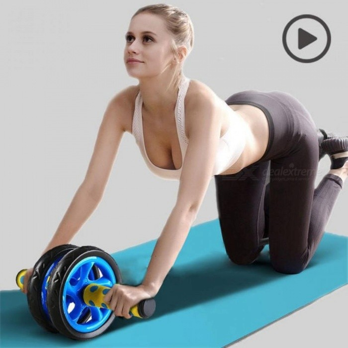 Sport-Pioneer-No-Noise-Abdominal-Wheel-Muscle-Trainer-Gymnast-Ab-Roller-With-Mat-Press-for-Exercise-Fitness-Machine-Workout-Black