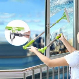 Brush-For-Windows-Telescopic-Multifunction-High-Rise-Window-Home-Cleaning-Tools-Hobot-Brush-For-Washing-Windows-Dust-Cleaning-Green