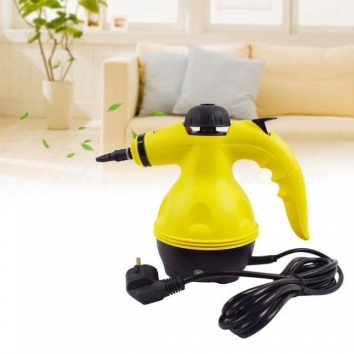 Multi-Purpose-Electric-Steam-Cleaner-Portable-Handheld-Steamer-Household-Cleaner-Attachments-Kitchen-Brush-Tool-Yellow