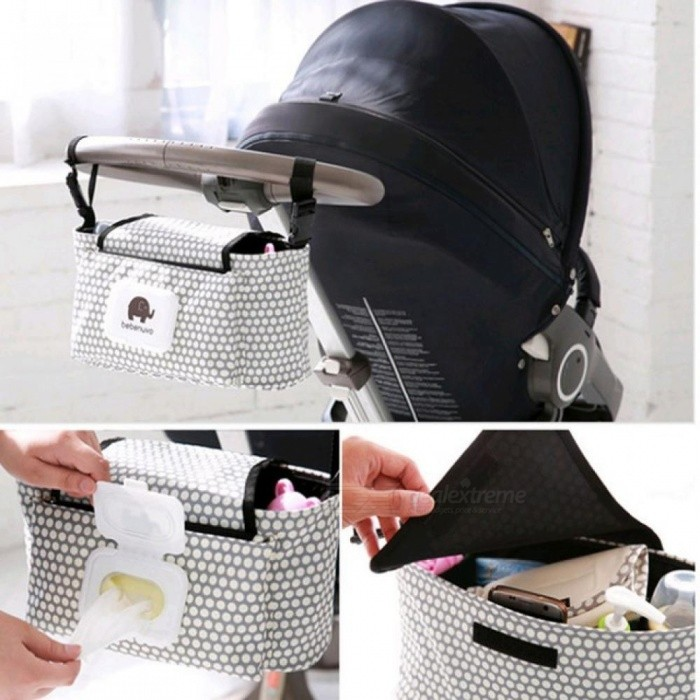 Baby-Stroller-Organizer-Bag-Mummy-Diaper-Bag-Baby-Carriage-Hanging-Storage-Bag-Cartoon-Folding-Elephant-Travel-Nappy-Bag