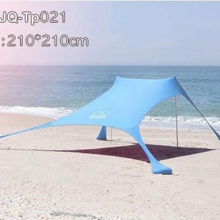 Portable Pergola Windproof Beach Sunshade And Gazebo Tent 210 X With Sand Anchors