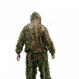 802819e8345 Hunting Clothes 3D maple leaf Bionic Ghillie Suits Yowie Sniper Birdwatch  Airsoft Camouflage Clothing Jacket And