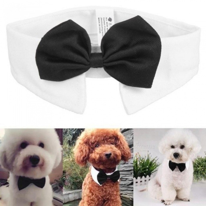 Gentleman Dog Bow Ties Pet Bow ties Adjustable Dog Cat Neckties Bow Butterfly Tie Necktie Bow tie Collar Pet Accessories Black