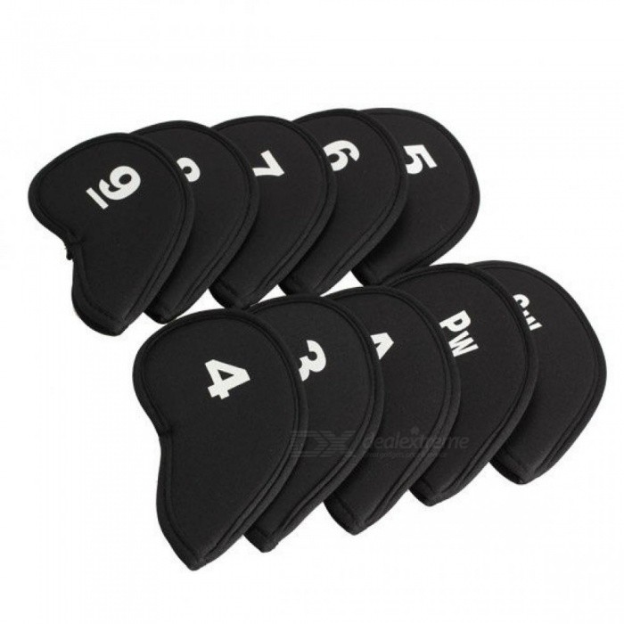 Golf Iron Head Covers Iron Putter Protective Black Widow Golf Club Iron Head Protector Golf Accessories 10 PCS 10pcs