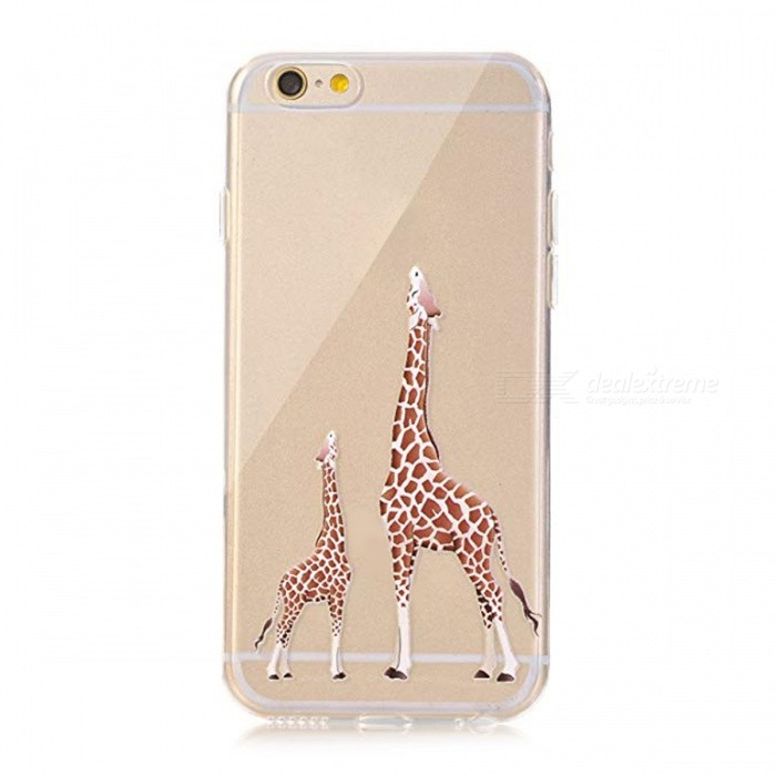 Giraffe TPU Soft Rubber Silicone Skin Cover for iPhone 8 Plus X 10 6 6S 5 5S SE Portefeuille for iPhone 7 Cases Accessories With Package