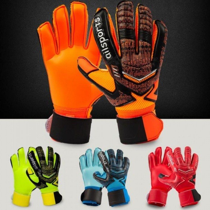 Buy Professional Goalkeeper Gloves Finger Protection Thickened Latex Soccer Goalie Gloves Football Goalkeeper Gloves Children Size 5/Green with Litecoins with Free Shipping on Gipsybee.com