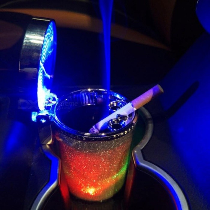 Car Ashtray with LED Light Cigarette Cigar Ashtray Container Smoke Ash  Cylinder Smoke Cup Holder Storage Cup Auto Accessories Ash Tray - buy at  the price of $10.59 in dx.com | imall.com