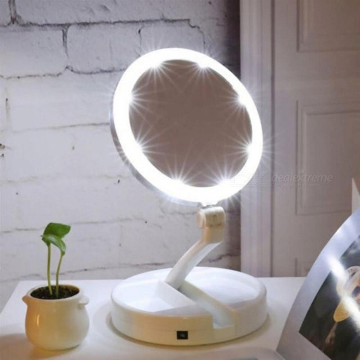 Portable-LED-Lighted-Makeup-Mirror-Vanity-Compact-Women-Pocket-Mirrors-Vanity-Cosmetic-Hand-Mirror-10X-Magnifying-Glasses-White