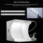 "2 LED Panels Mini Folding Studio 8"" Diffuse Softbox Lightbox with Black White Photography Background Photo Studio box 2 LED"