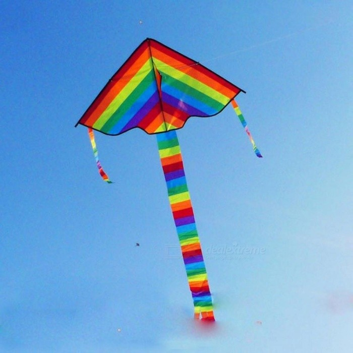 Buy Colorful Rainbow Kite Long Tail Nylon Outdoor Kites Flying Toys for Children Kids Stunt Kite Surf without Control Bar and Line   Rainbow with Litecoins with Free Shipping on Gipsybee.com