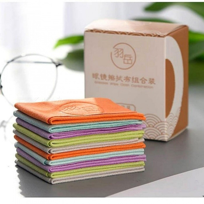 Buy 10 Pcs/Lot Chamois Glasses Cleaner 150x175mm Microfiber Glasses Cleaning Cloth for Lens Phone Screen Cleaning Wipes 10 pcs/lot with Litecoins with Free Shipping on Gipsybee.com