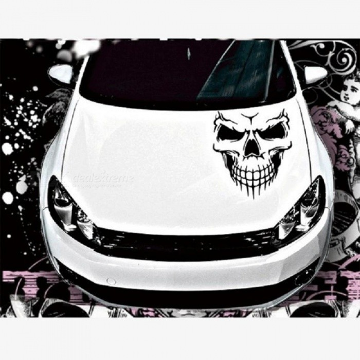 40*36cm Car Stickers Skull Head Reflective Vinyl Car Styling Car-covers Accessories Funny Decoration Exterior Accessories