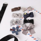 8 Pcs Multi-Style Ribbon Bow Flower Hairpins Hair Barrettes Children Accessories Cute Baby Girls Headwear Hair Clip free size/style02