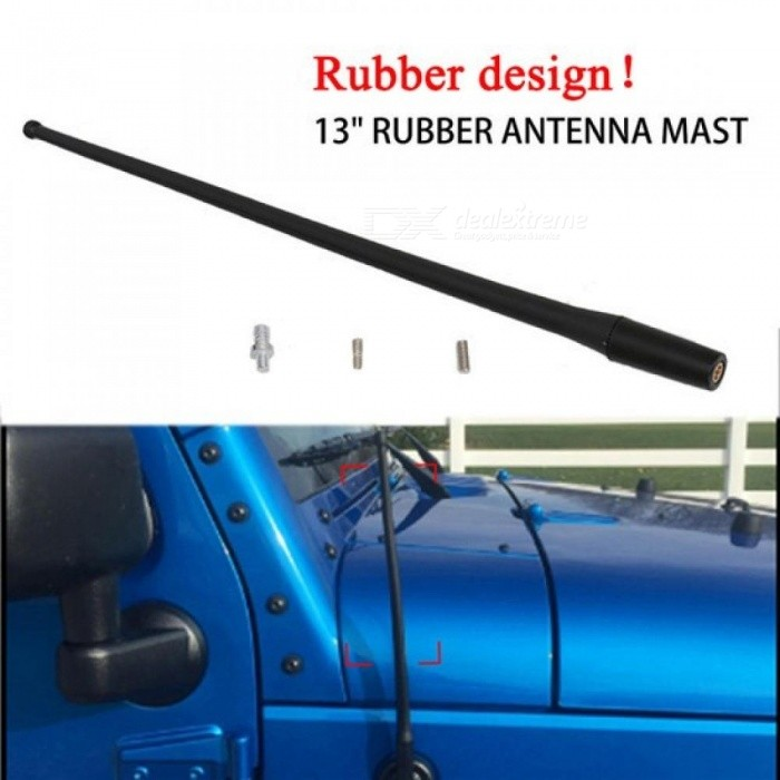 WISENGEAR-13-Screw-in-Rubber-Antenna-Mast-Car-For-1997-2017-Jeep-Wrangler-Signal-Aerial-Amplifier-Booster-FM-AM-Vehicle-Radio-Black