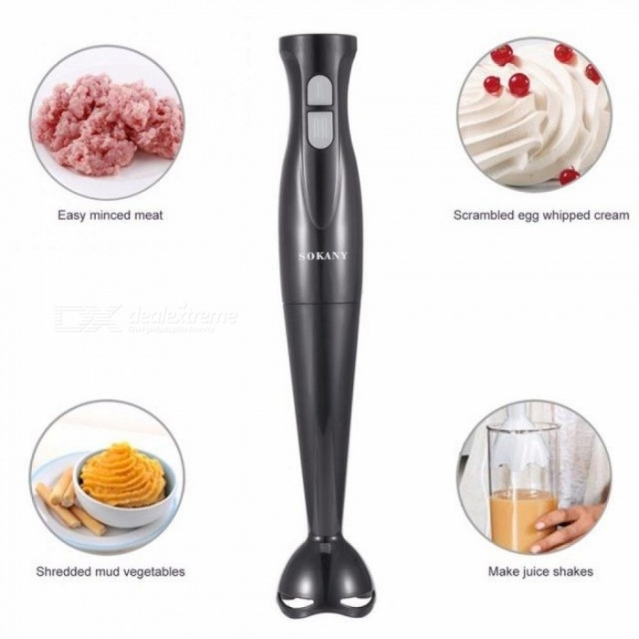 Electric-Handheld-Blender-Meat-Grinder-Food-MIxer-Processor-Multifunctional-Household-Babycook-200W-Hand-Agitator-EUBlack