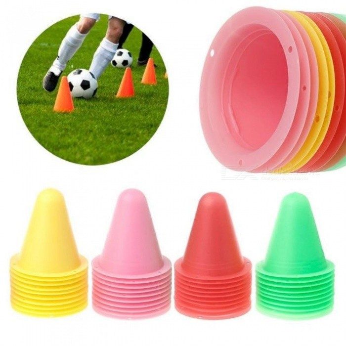 skating Skateboard Mark Cup Soccer Football Rugby Speed training Equipment Space Marker Cones Slalom Roller Skate Pile Cup 10PCS Yellow