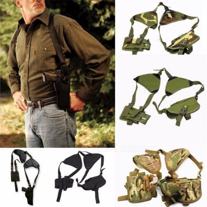 Outdoor Tactical Police Security Universal Left Right Hand Pistol Pouch Shoulder Gun Holster for Glock 17 19 22 23 31 32
