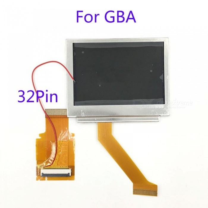 For Nintendo GameBoy Advance LCD Screen For GBA SP AGS 101 Highlit Screen LCD OEM Backlit Brighter With 40Pin/32Pin Ribbon Cable 40Pin B LCD