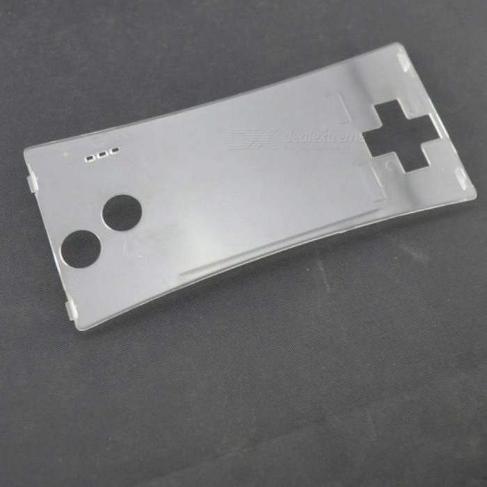 Transparent Front Shell Faceplate Housing Case Cover Panel for Nintendo For Gameboy Micro With Silver Color Transparent