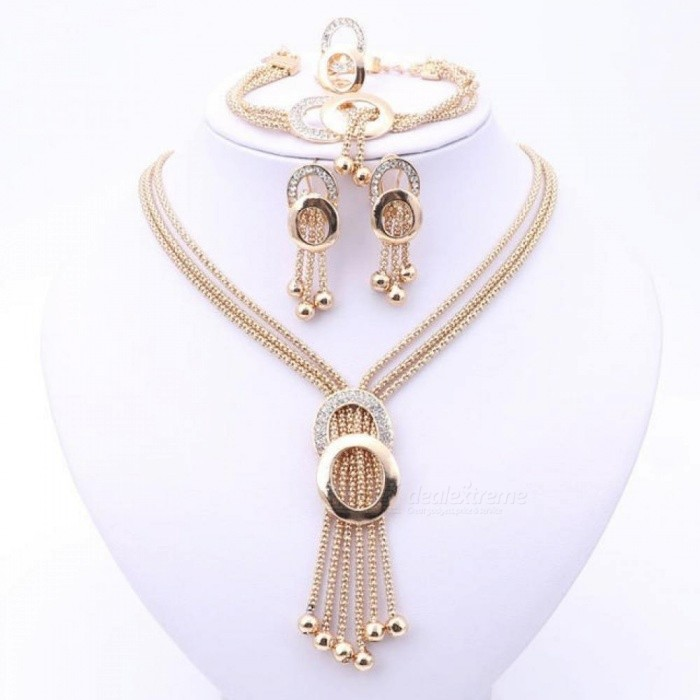 Women-Bridal-Fine-Crystal-African-Beads-Jewelry-Sets-for-Wedding-Party-Dress-Accessories-Set-Earrings-Pendants-Necklace-Rings-Gold