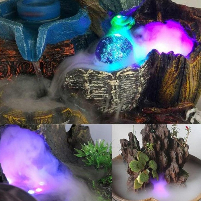 Image result for Multi-use Ultrasonic Mist Maker 12 LED Colorful Light Fogger Purify Water Fountain Pond Indoor Outdoor 1A/24V