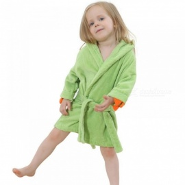 Baby-Girls-Bathrobes-Green-Dinosaur-Robe-Cartoon-Towel-Kid-Spring-Autumn-Bathing-Suits-Animal-Hooded-Nightgown-2TGreen