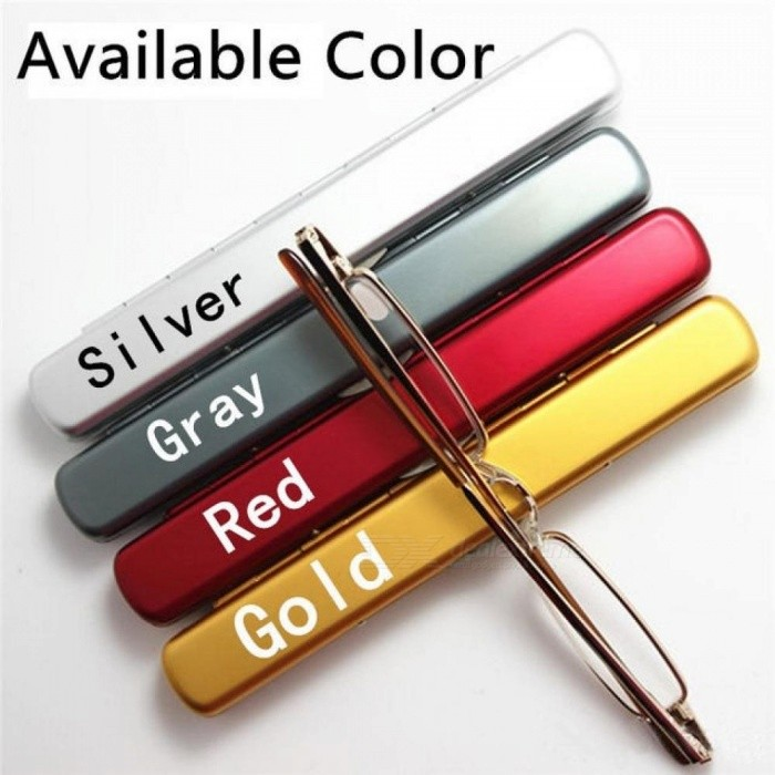 Buy Metal Frame Slim Women Men Reading Glasses Presbyopic Eyeglasses Mini Ultralight with  Case 1.5 2.0 2.5 3.0 3.5 Red/1.00 with Litecoins with Free Shipping on Gipsybee.com