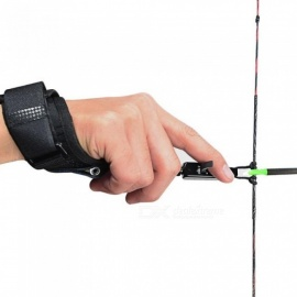 Adult-Compound-Bow-Caliper-Release-Shooting-Trigger-with-Buckle-Wrist-Strap-Free-Shipping-Archery-Bow-Outdoor-Sport-Black