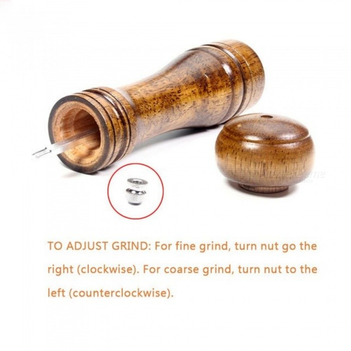 Salt and Pepper Mill Solid Wood Pepper Mill with Strong Adjustable Ceramic Grinder  Kitchen Practical Tools