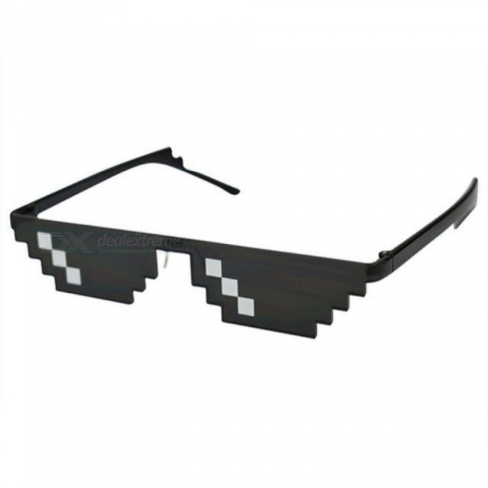 Glasses 8 Bit MLG Pixelated Sunglasses Men Women Brand Thug Life Party Eyeglasses Mosaic Vintage Eyewear Black