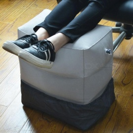 XC-USHIO-3-Layers-Inflatable-Travel-Foot-Rest-Pillow-385g-Airplane-Train-Car-Footrest-Cushion-With-Storage-Bag-amp-Dust-Cover