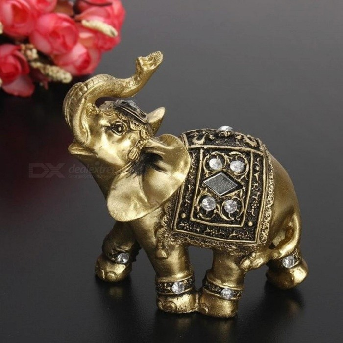 lucky feng shui elegant elephant trunk statue lucky wealth figurine crafts ornaments for home. Black Bedroom Furniture Sets. Home Design Ideas