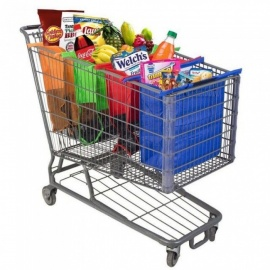 Shopping-Cart-Trolley-Bag-Foldable-Reusable-Grocery-Shopping-Bag-Eco-Supermarket-Bag-Easy-to-Use-and-Heavy-Duty-Bolsas-4PCSSet-With-Cooler-Bag
