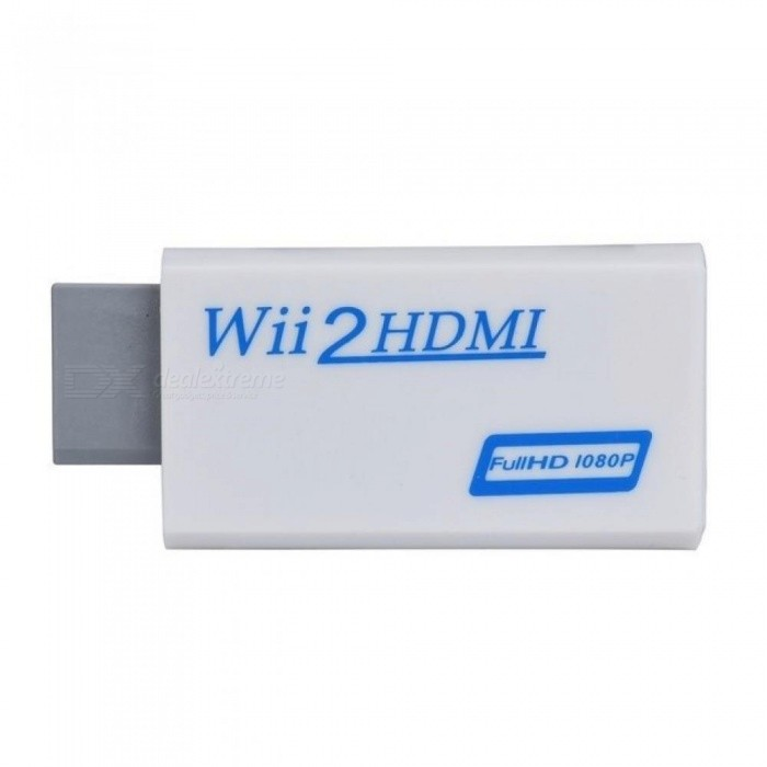 For Wii To HDMI Adapter Converter Support Full HD 720P 1080P 3.5mm Audio for Wii 2 HDMI Adapter for HDTV <=0.5m
