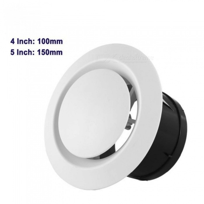 ABS-Adjustable-Air-Vent-Round-Soffit-Exhaust-Vent-White-Inline-Duct-Fan-Outlet-Vent-4-Inch-6-Inch-Size-4Inch-100MM