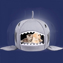 Shark-Dog-Bed-Pet-Cat-Bed-Shark-Cats-Beds-House-For-Large-Medium-Small-Dogs-Pet-Beds-Puppy-Kennel-Pet-Shop-Chihuahua-Pets-House-S-40-x-40-x-33-cmGra