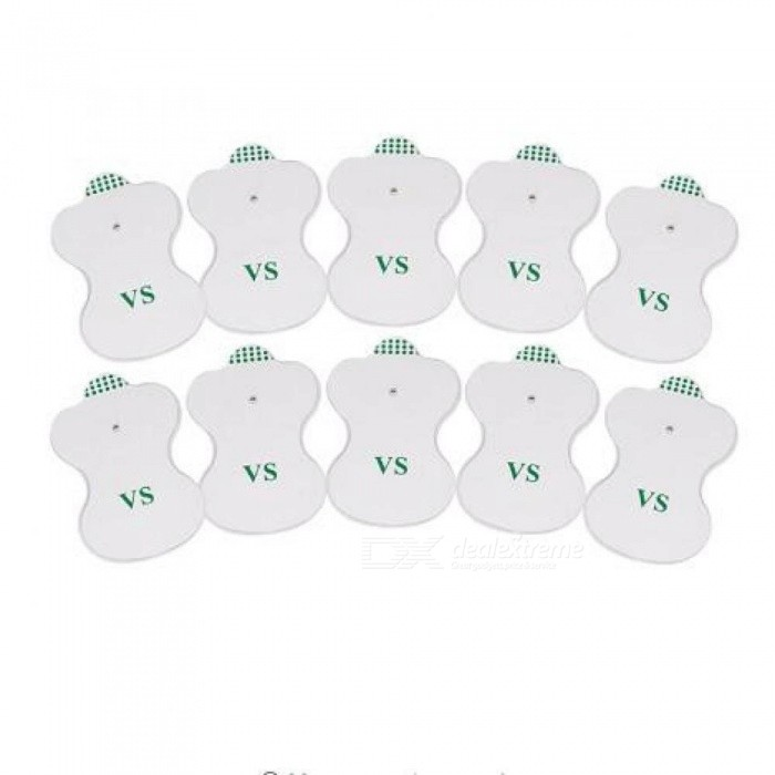 Beurha 10PCS White Electrode Pads Digital For Tens Acupuncture Digital Therapy Machine Massager Pad Medium Frequency