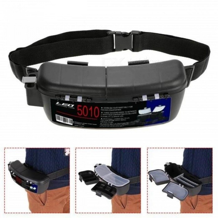 Multifunctional-Fishing-Box-Portable-Fishing-Bait-Tackle-Box-Storage-Box-Waist-Carrier-Lure-Reel-Holder-Container-Black