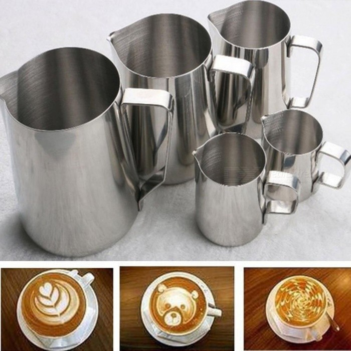 Stainless Steel Milk Frothing Jug Espresso Coffee Mug Pitcher Barista Craft Coffee Cappuccino Cups Latte Pot Kitchen Tool 150ML