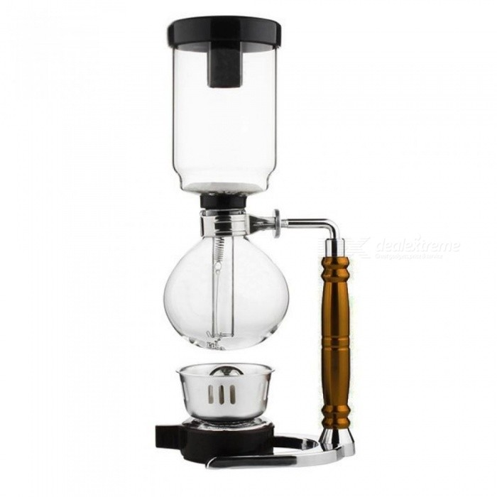 Japanese Style Siphon Coffee Maker Tea Siphon Pot Vacuum Coffee Maker Glass Type Coffee Machine Filter 3 Cup 5 Cups 5 Cups