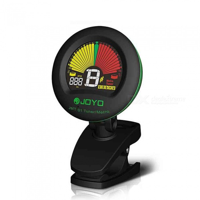 JMT-01 Clip-on Electric Tuner & Metronome Built-in Mic Color Screen for Guitar Chromatic Bass Violin Ukulele Black