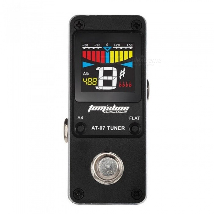 AT-07-Guitar-Tuner-Mini-Single-Guitar-Effect-Pedal-Electric-Effects-High-Quality-Guitar-Parts-Accessories-Black