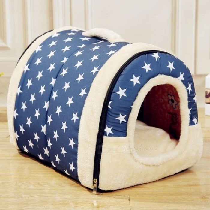 Multifunctional-Dog-House-Nest-with-Mat-Foldable-Pet-Dog-Bed-Cat-Bed-House-for-Small-Medium-Dogs-Travel-Pet-Bed-Bag-SBlue