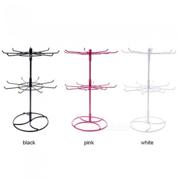 Multifunctional-Metal-Necklace-Chain-Bracelet-Rotation-Holder-Jewelry-Display-Stand-Rack-Hanger-Multi-Colors-For-Option-As-ShowWhite
