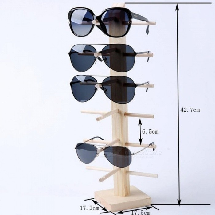 Multi Layers Wood Sunglass Display Rack Shelf Eyeglasses Show Stand Jewelry Holder for Multi Pairs Glasses Showcase 2 Layers
