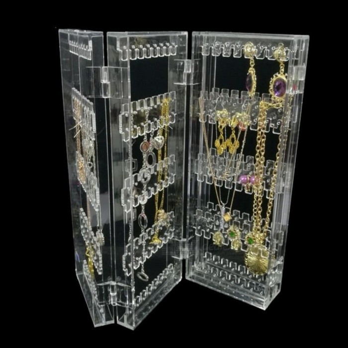 Foldable-4-Panel-Clear-Acrylic-Makeup-Jewelry-Organizer-Holder-256-Holes-Earring-Stud-Necklace-Bracelet-Case-Cabinet-Stand-Shelf-4-Panel