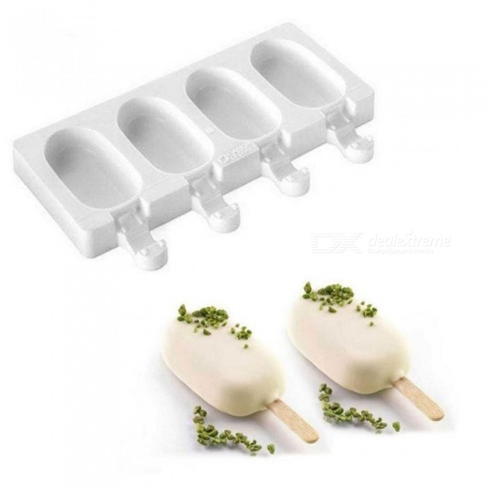 4Cell Frozen Ice Cream Pop Mold Popsicle Maker Lolly Cake Mould Tray Pan Kitchen